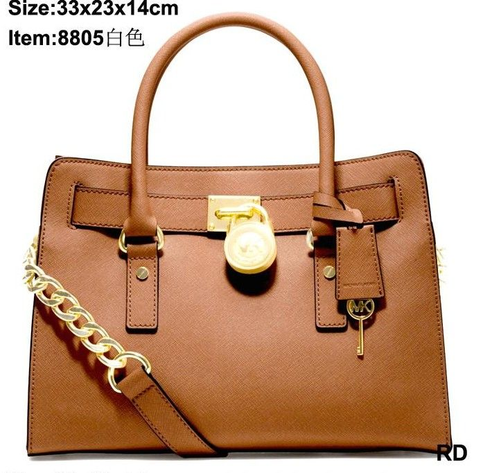 Light brown PU leather tote bag purse