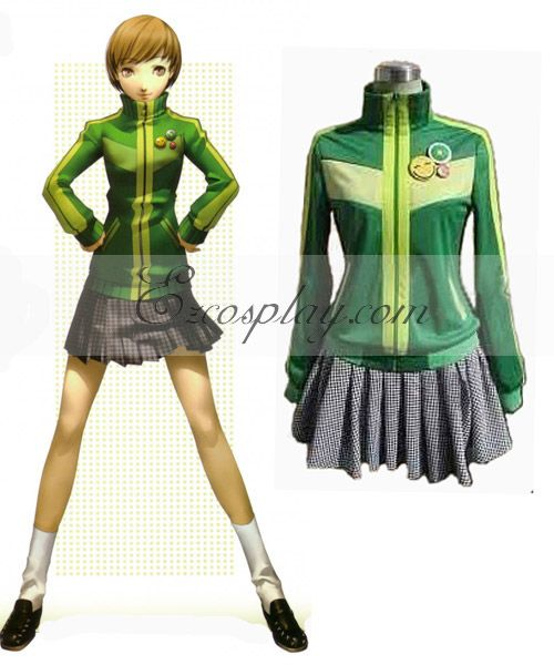 We Offer High Quality Megami Ibunroku Persona Costumes Best Costume Cosplay-Wigs-Boots or Shoes-Props From CosplayMade Shop Reliable and Professional ...  sc 1 st  Pinterest & Persona 4 Satonaka Chie Green Cosplay Costume. Disclaimer: This is ...