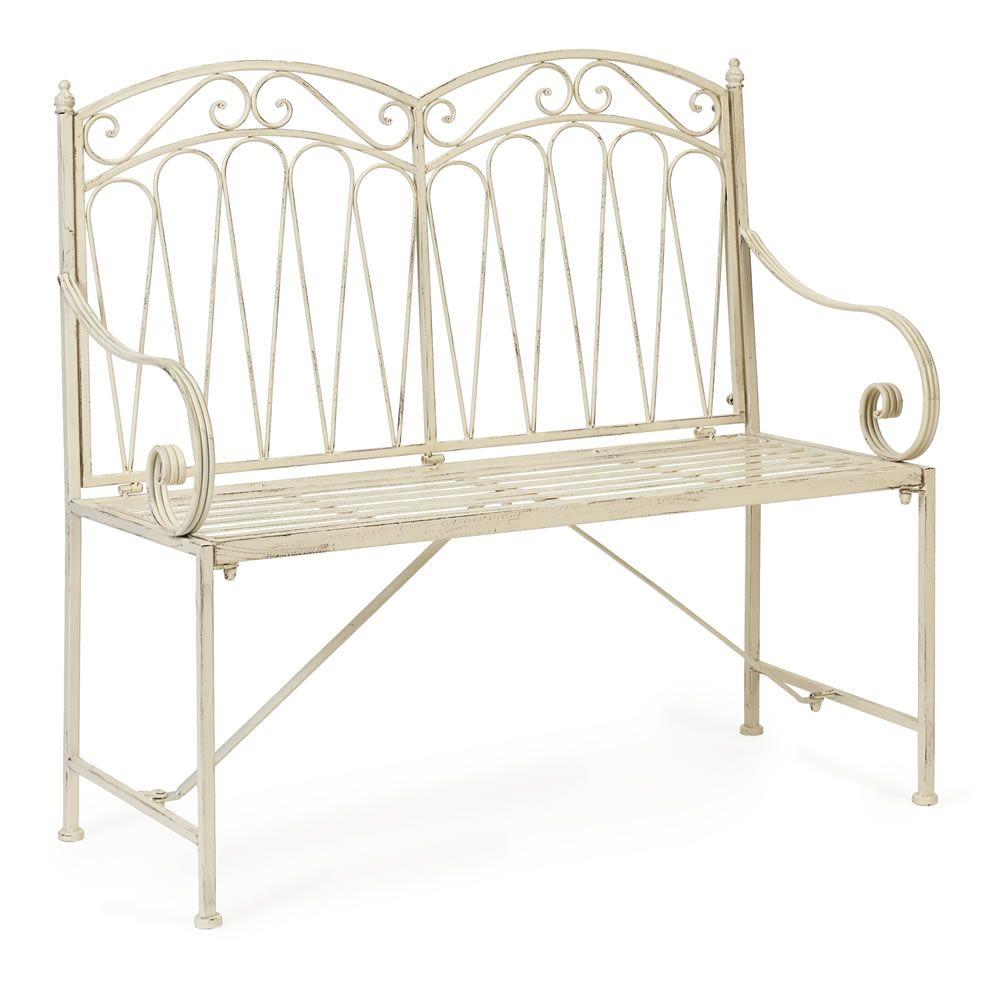 Wilko Romance 2 Seater Bench Linen at wilko.com | Cottage | Pinterest