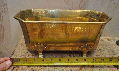 Vintage Miniature Brass Claw Foot Bath Tub Soap Dish Trinket Bowl