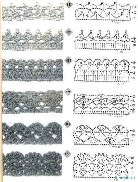A Group Of Crochet Edges Patterns Wonderful Crochet Edges