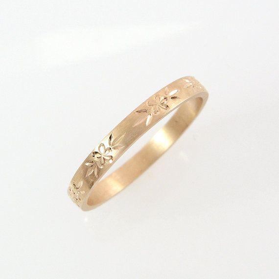 18k Rose Gold Wedding Ring Engraved Wedding Band Couples Etsy Wedding Rings Rose Gold Wedding Band Engraving Engraved Wedding Rings