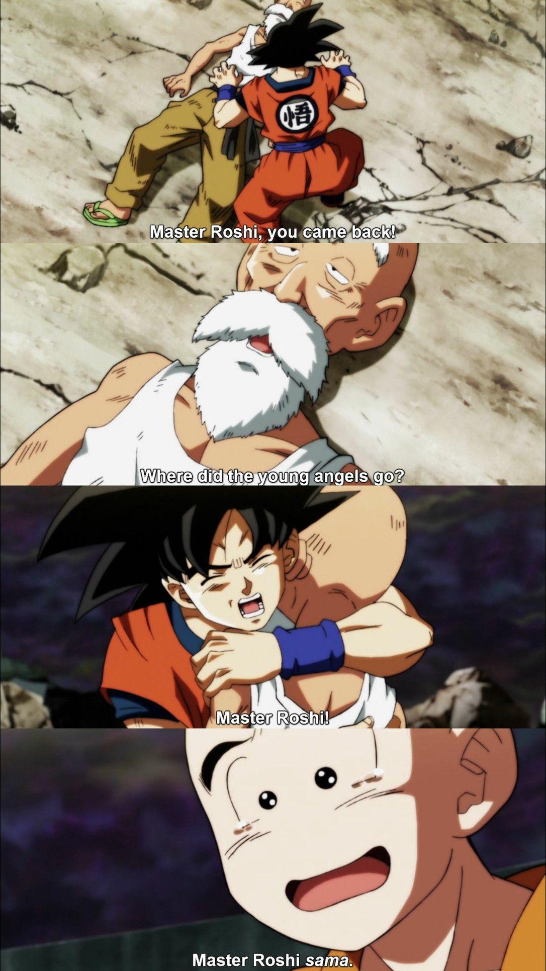 Goku Maestro Roshi Y Krillin Krillin Dragon Ball Z Anime