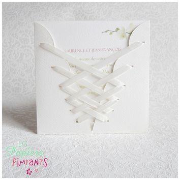 Corset Blanc et Laçage Blanc | Corset blanc, Faire part ...
