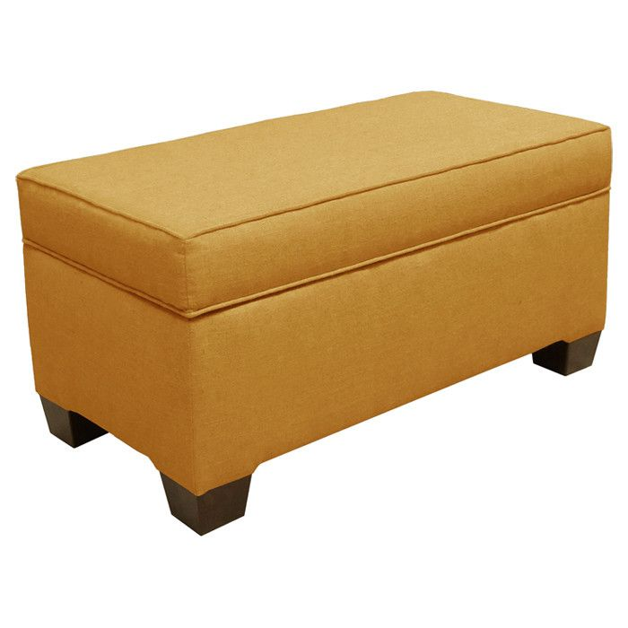 Patriot Storage Bench In French Yellow By Skyline Furniture