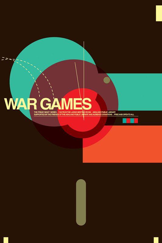 Minimalist Movie Poster: War Games by Brandon Schaefer