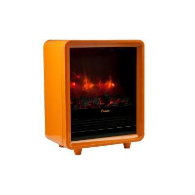 Delightful Crane 1500 Watt Mini Fireplace Radiant Electric Portable Heater   Orange