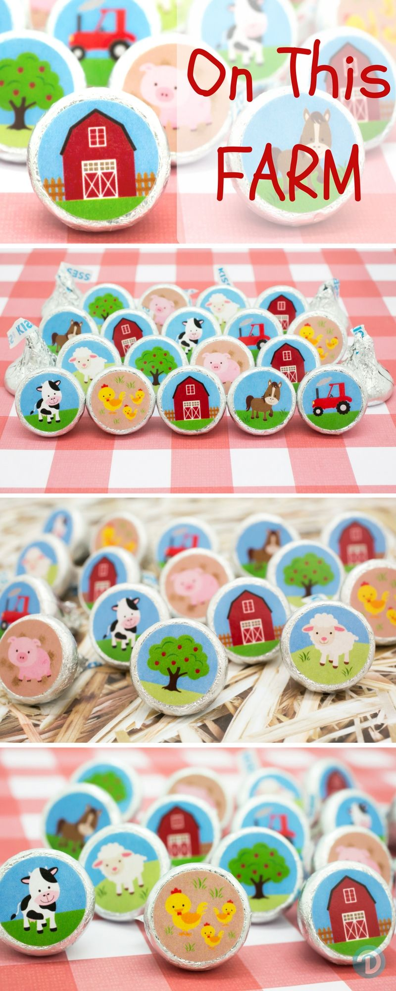 barnyard party farm animals stickers set of 324 favors