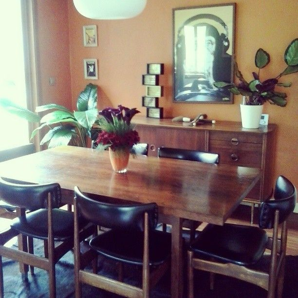 my funky but warm seventies interior, with vintage furniture and ...