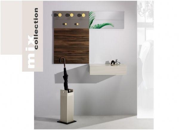 Recibidor mix collection 41 mueble de entrada con perchero muebles de entrada recibidores - Mueble perchero entrada ...