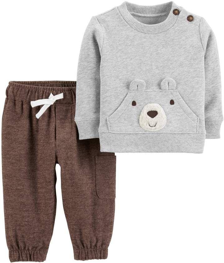 009e736a3 Carter s Baby Boy Bear Sweatshirt   Jogger Pants Set