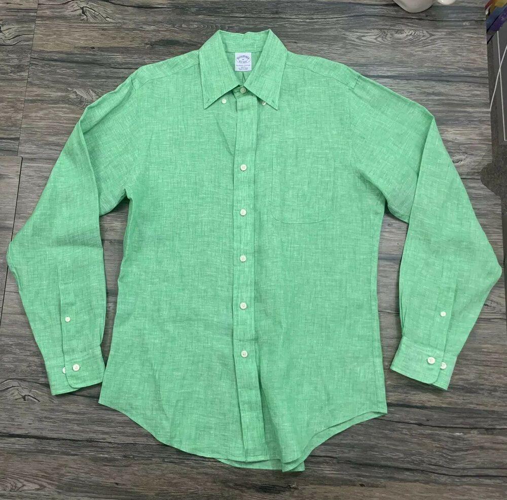 Brooks brothers slim fit shirt sz medium mens all irish