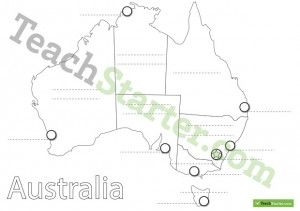 australian states and capital cities map worksheet