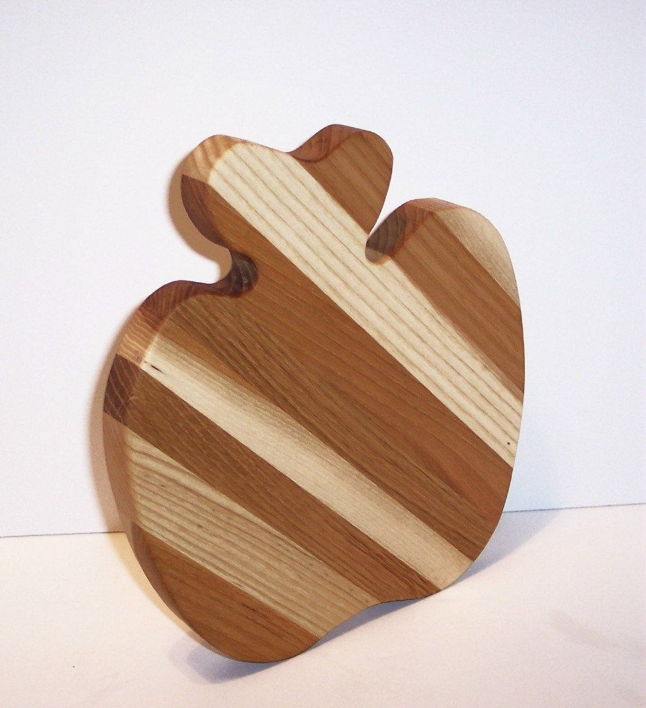 Apple Cheese Cutting Board by tomroche on Etsy