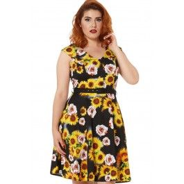 Women's Bianca - Sunflower Rose Flare Dress