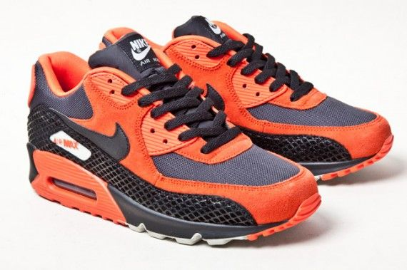 nike air max 90 orange and black