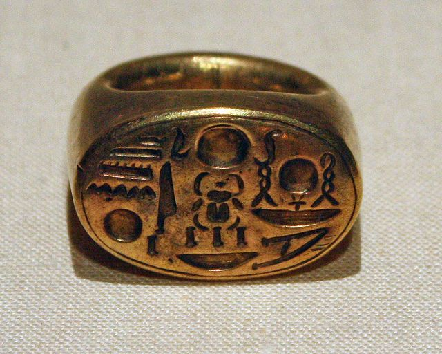 Bilderesultat for signet rings tutankhamon