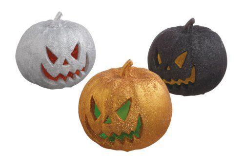 3 LED Lighted Halloween Pumpkin - Indoor halloween decorations