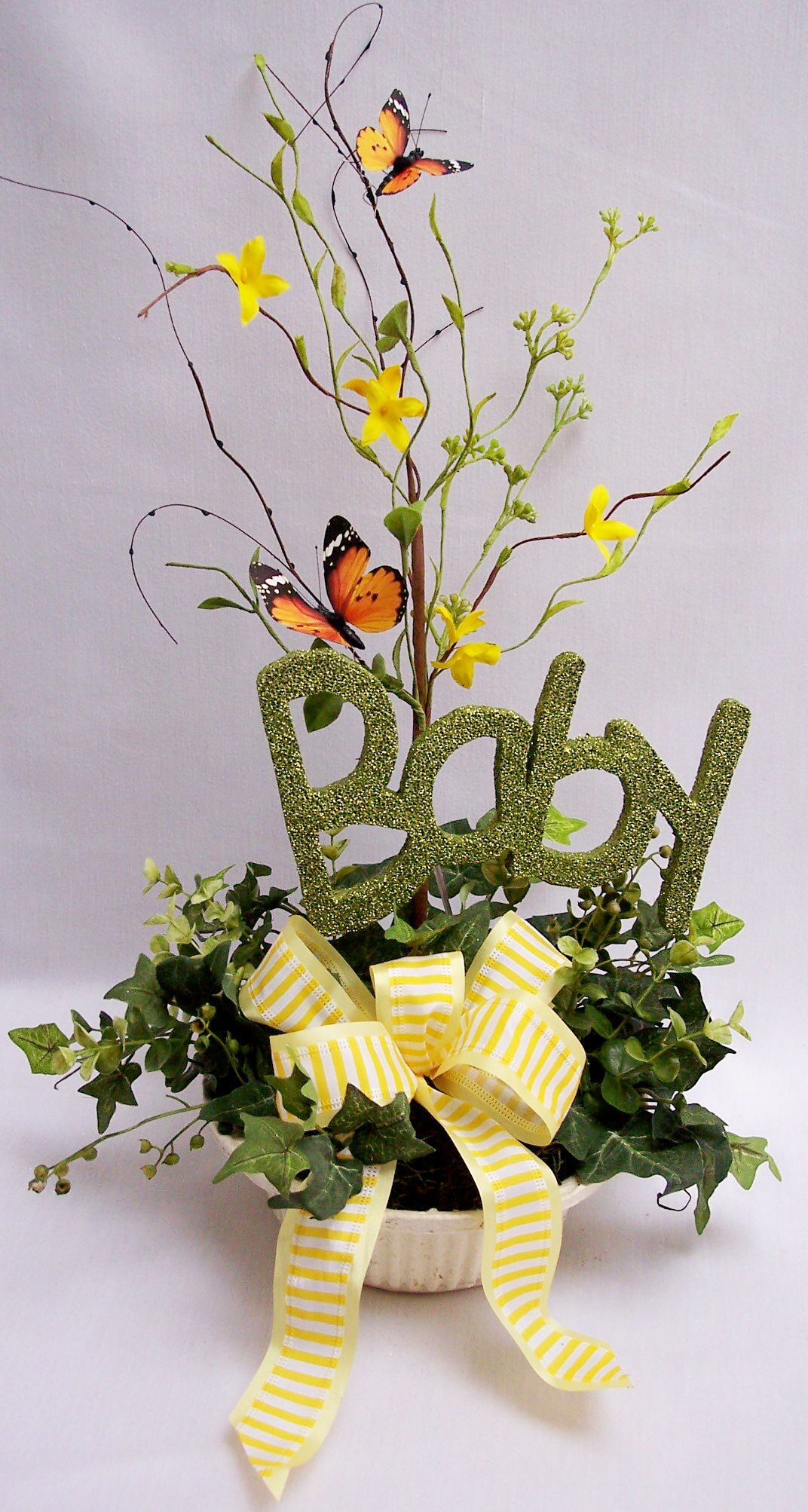 Baby shower floral arrangements centerpieces