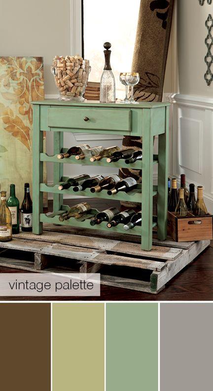 Vintage paleta de Colores - Un mueble Vintage para sus Vinos Espectacular