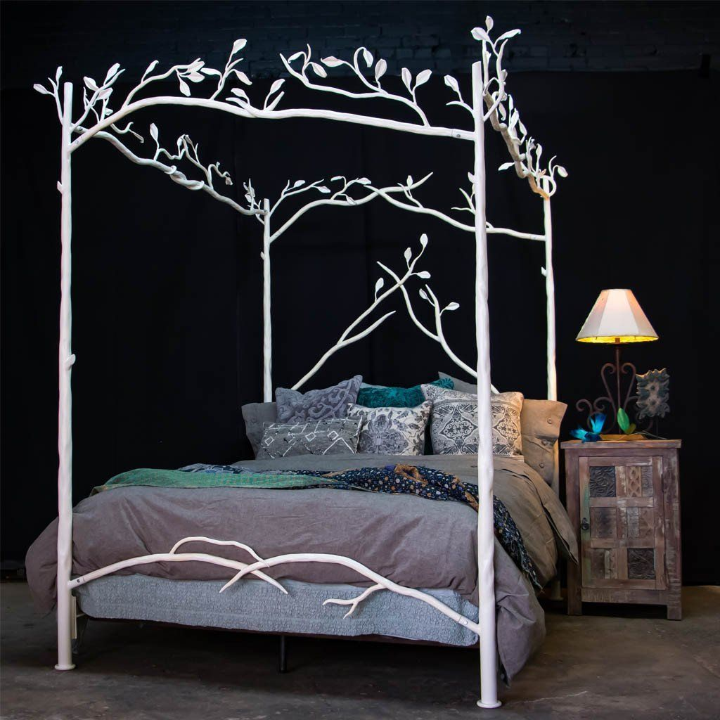 - Forest Canopy Bed - White White Bedding, Canopy, Bed