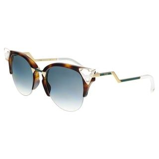 09450ddeddb23 FENDI 0041 S 0VIO- G5 Havana Gold Cat eye Sunglasses - 52-20-135 ...