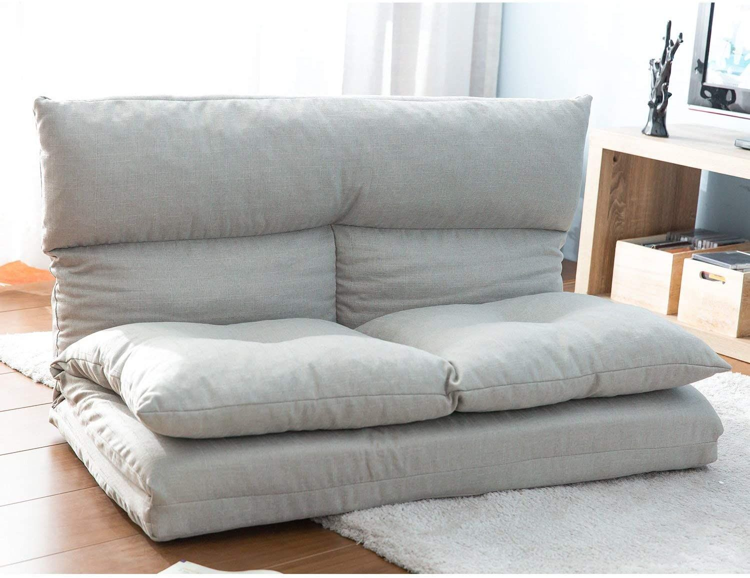 Adjustable Floor Couch Fabric Folding Floor Sofa Chaise Lounge Sofa Chair Floor Gaming Lazy Sofa Grey In 2020 Floor Couch Gaming Sofa Grey Furniture Living Room