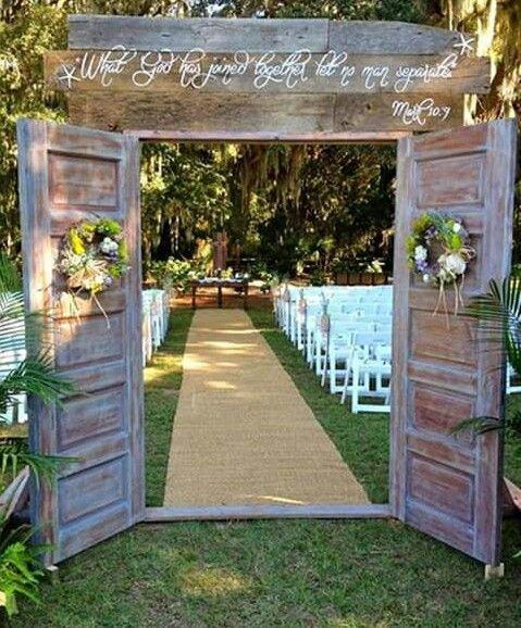 See More About Outdoor Wedding Doors, Wedding Doors And Outdoor Weddings.