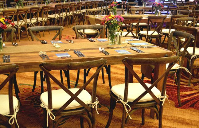 rustic farm table and chairs cow print toppers