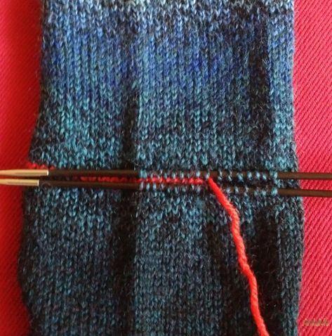 Socken stricken-Zu guter Letzt: die Ferse stricken | AmlaMe ...