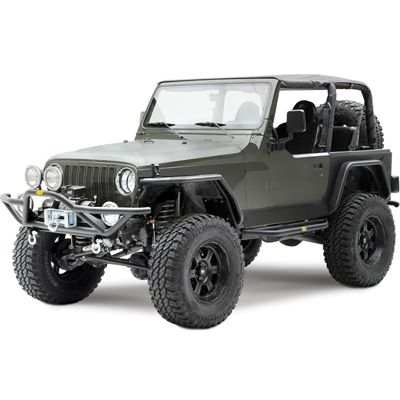 Smittybilt 76721 Front Src Bumper In Textured Black For 87 06 Yj