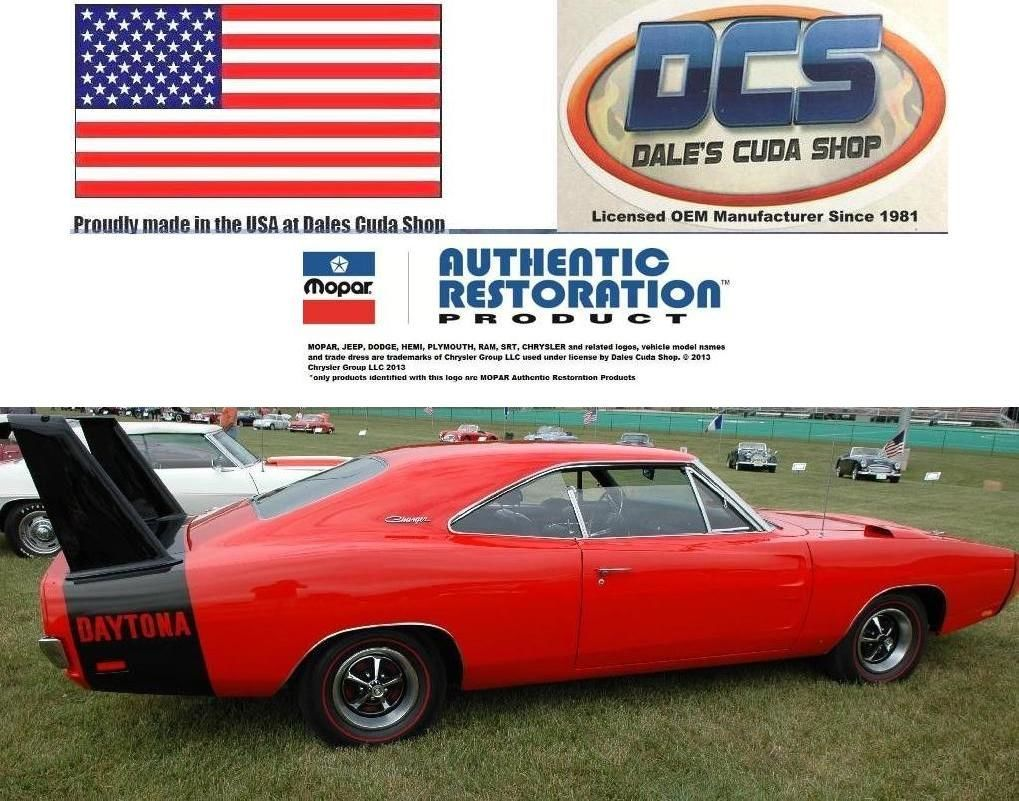 1970 Dodge T/A Challenger Deck Lid Spoiler Reflective Decal