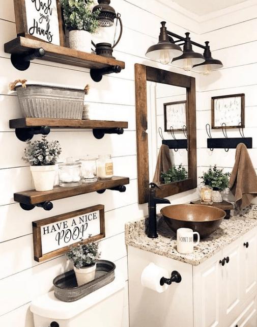 25 Inspirational Lighting Decoration For Bathroom #bathroomdecorationideas #eweddingmag #HomeDecorationIdeas #HomeDesign