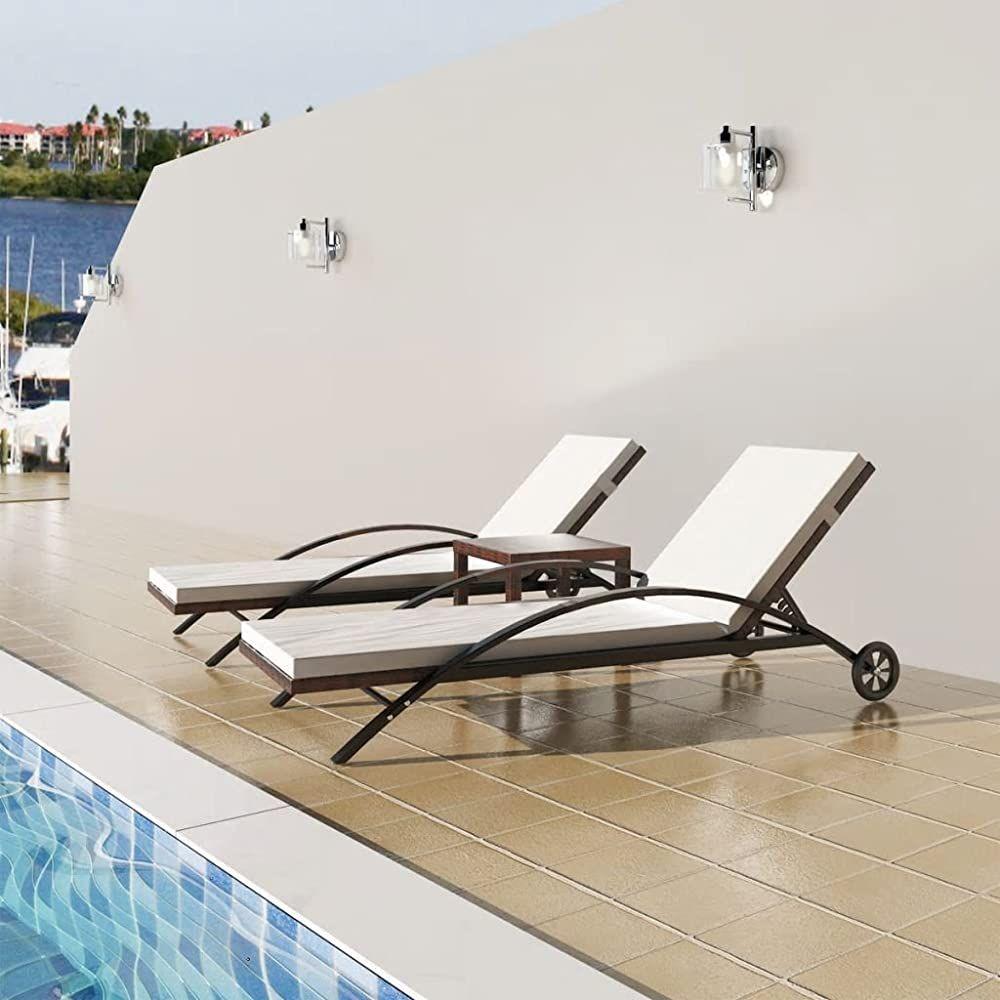 Tidyard Sonnenliegen Set 3 Tlg Poly Rattan Sonnenliege Mit 2 Liegestuhle Und 1 Tisch Gartenliege Stahlrahmen Rattanliege Geschenksachen Geschenkideen Mebel