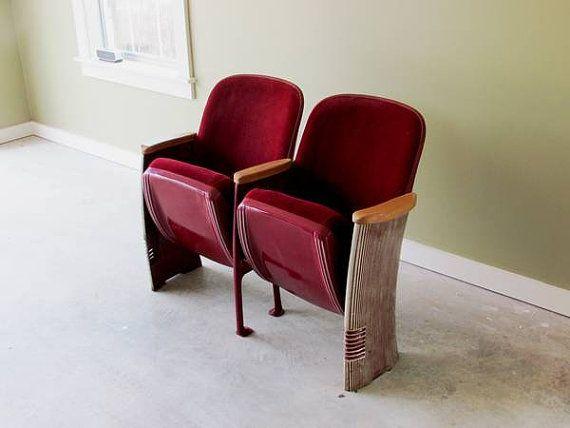 Vintage Antique Art Deco Theatre Seats Art Deco Chair