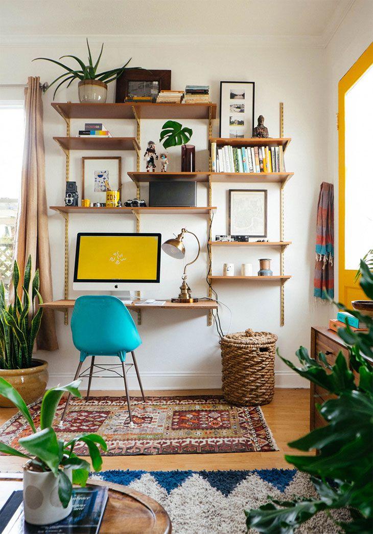 Soggiorno+studio: tutto in 9 mq | Home Office & Studio | Pinterest ...