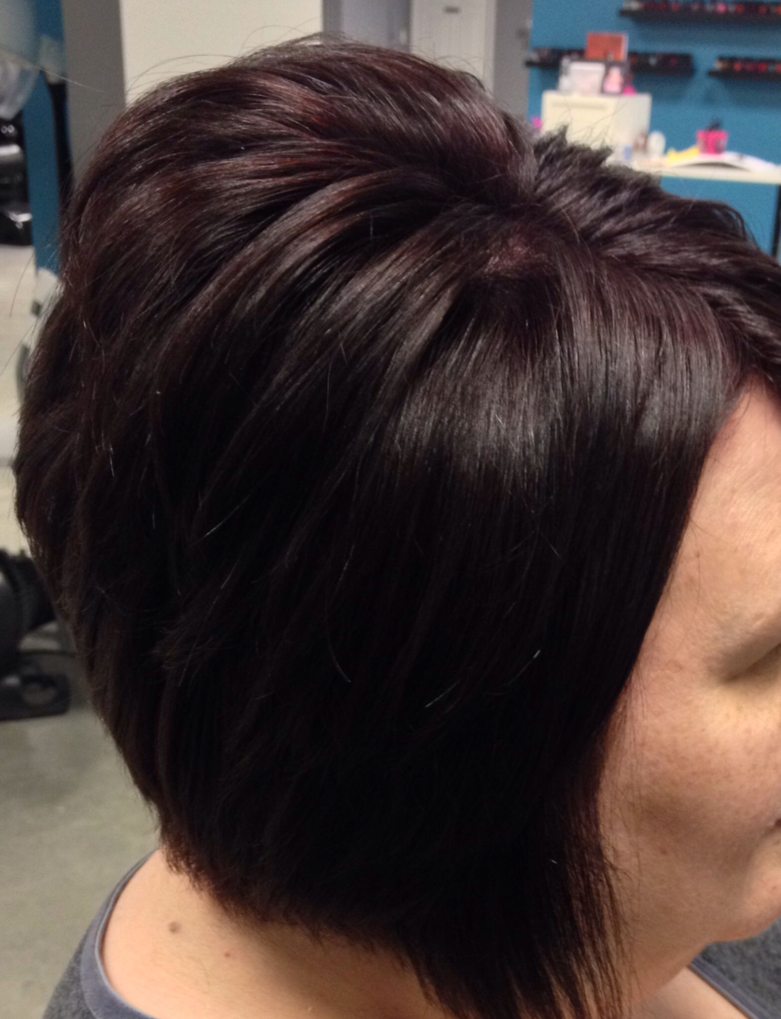 Dark violet brown hair by jeanna godfrey southern roots salon