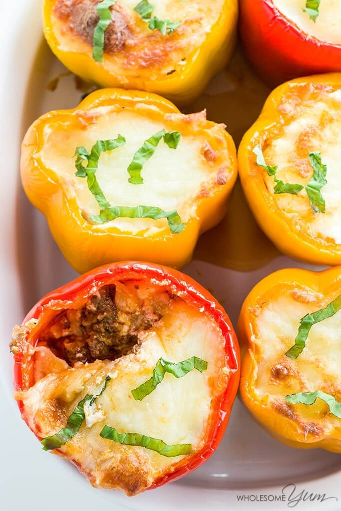 7 Ingredient Beef Lasagna Stuffed Peppers This Easy Gluten Free Low Carb Stuffed Peppers Recipe Is Like A Stuffed Peppers Low Carb Lasagna Peppers Recipes