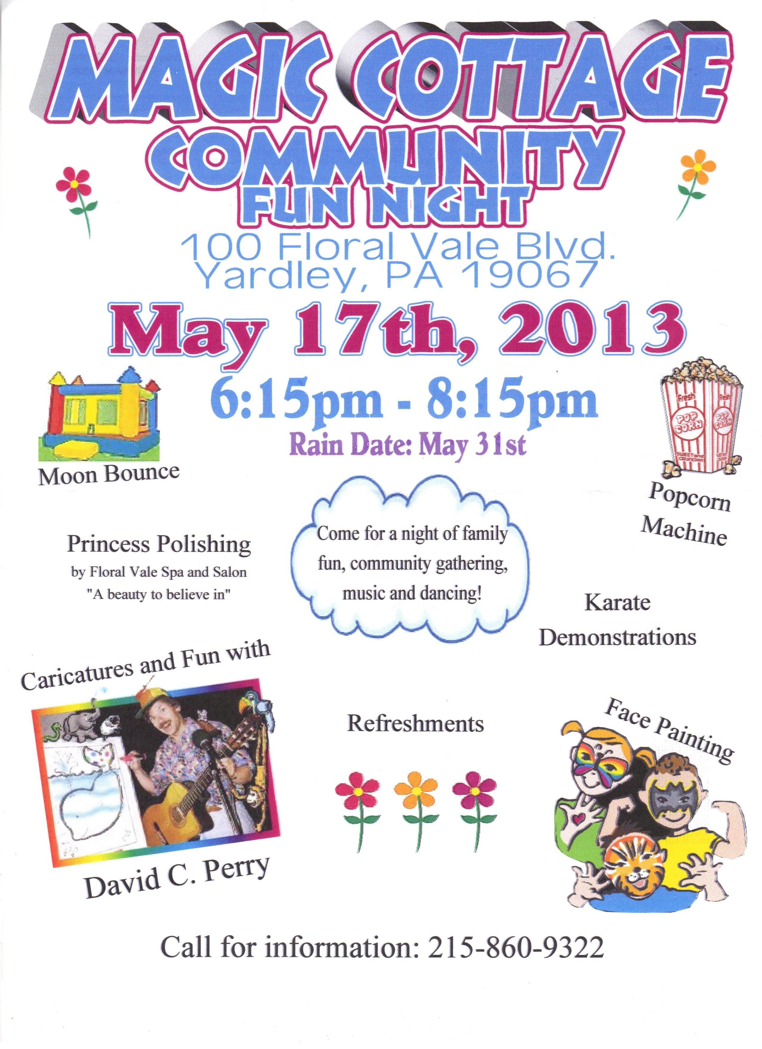 The Community Fun Night flyer!