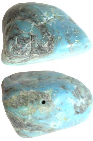 RARE Natural Dry Creek Turquoise BIG 25x35mm Primitive Nugget