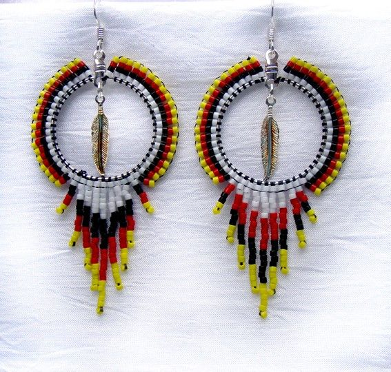 free native beaded earring patterns | Home / Earrings ...