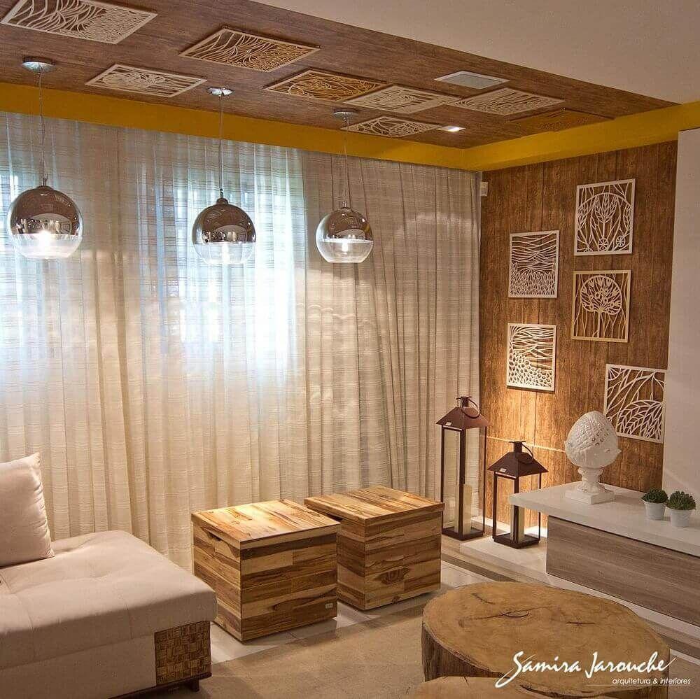 Puff Para Sala 40 Modelos Para Tornar Sua Sala Mais Confort Vel  -> Abajour Para Sala De Tv