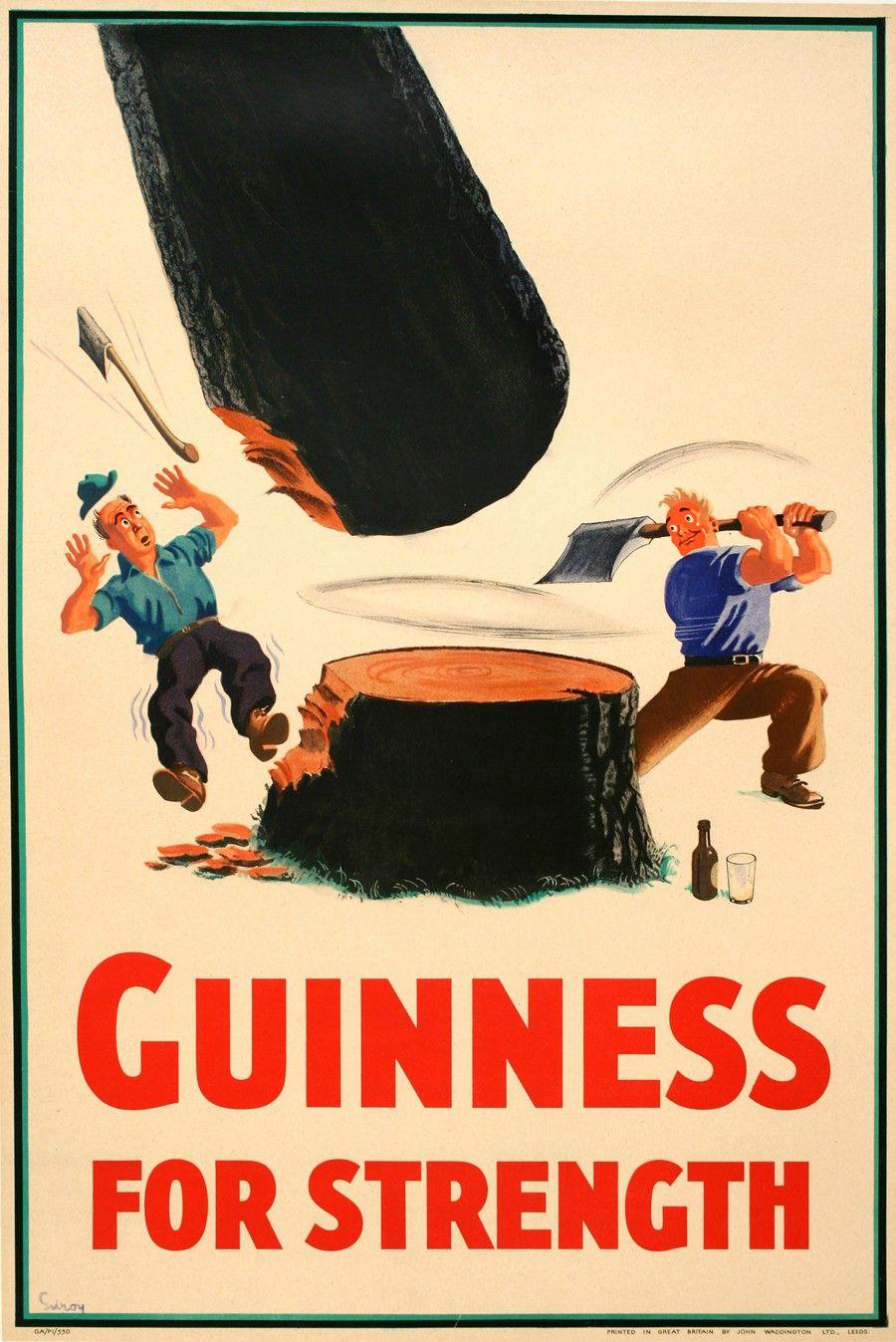 GUINNESS FOR STRENGTH - LUMBERJACKS by GILROY | Posters | Pinterest ...