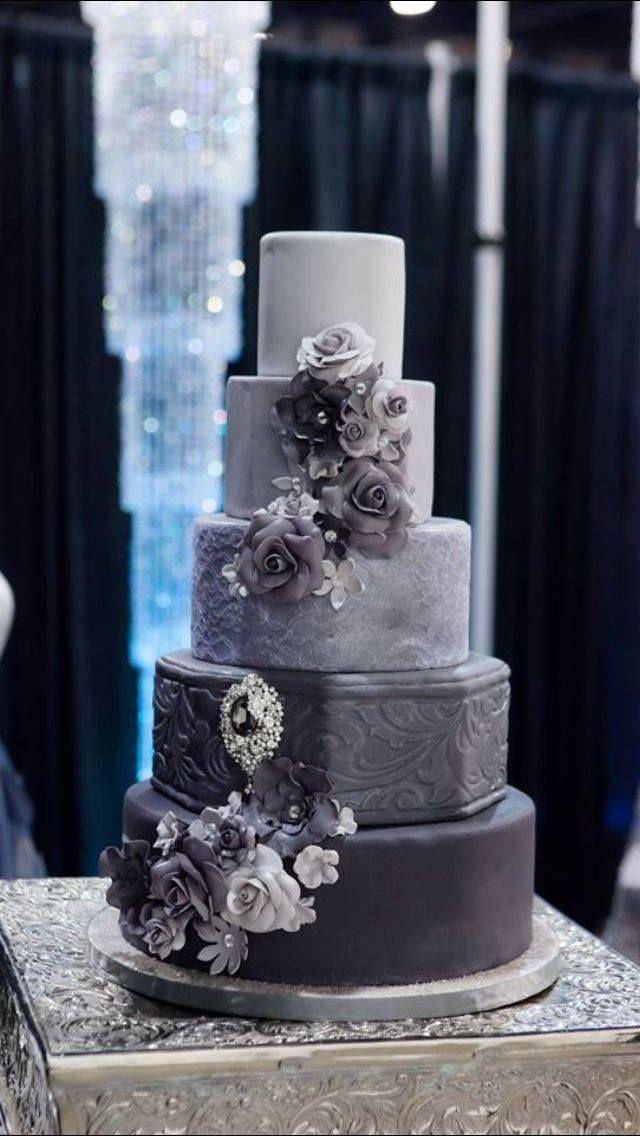 1000 Ideas About Grey Wedding Cakes On Pinterest