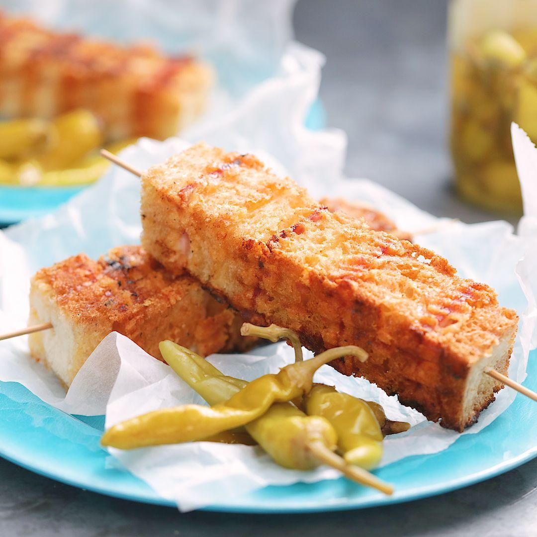 Ham And Cheese Toastie Kebabs #foodrecipies
