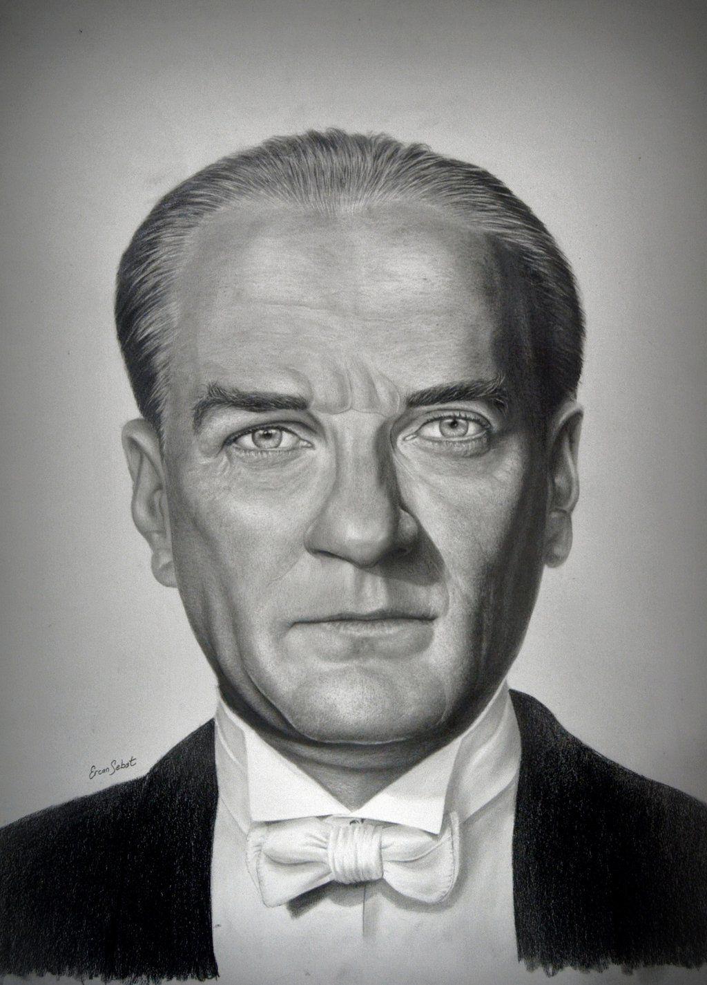 Mustafa Kemal Ataturk By Ercansebat On Deviantart Portrait Art Portrait Drawing
