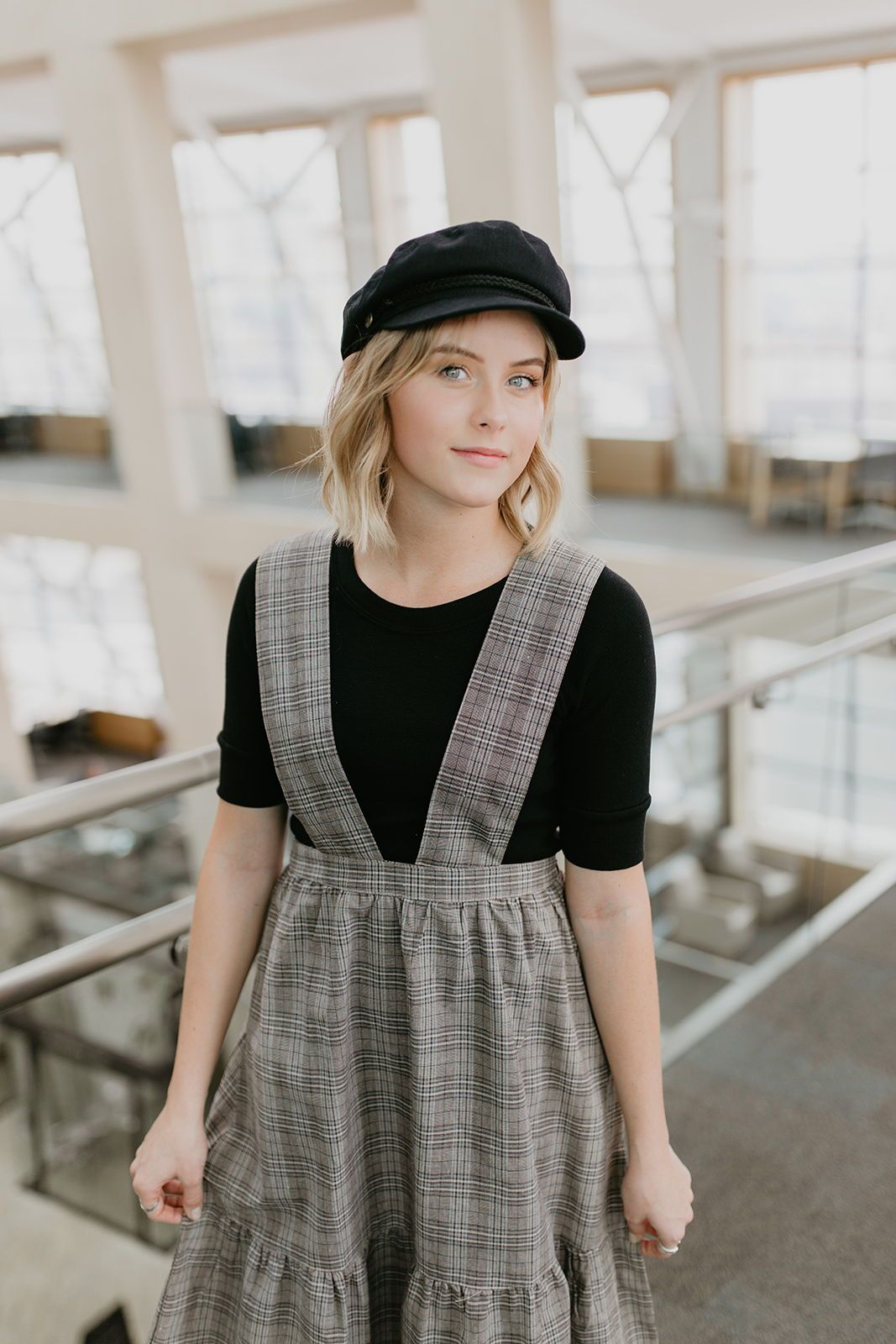 THE CHATILLON PLAID JUMPER DRESS Style Modesty in Dresses