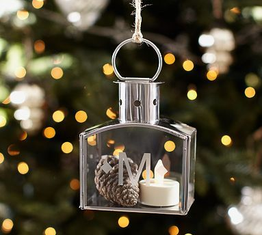 Silver Lantern Ornament #potterybarn Gifts Winter Wonderland