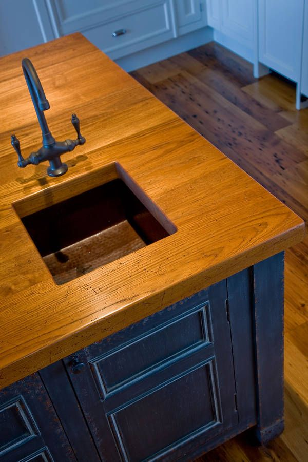 Check Out Amazing Teak And Copper Sink From Dalia Kitchen Design