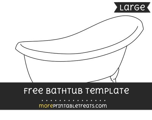 Free Bathtub Template - Large Shapes and Templates Printables - thermometer template